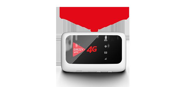 DJEZZY MODEM + 1 USIM INTERNET 3G/4G