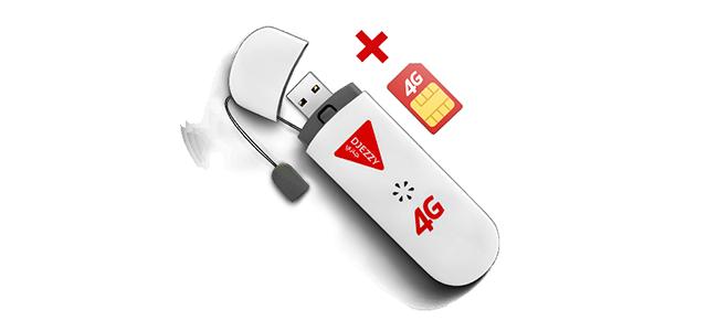 مفتاح أنترنت 4G + شريحة أنترنت SIM + 1GO بـ 2300 دج فقط