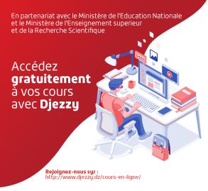 Avec Djezzy, accédez gratuitement aux plateformes d'enseignement à distance de l'Education Nationale et de l'Enseignement Supérieur