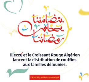 DJEZZY ET LE CROISSANT ROUGE ALGÉRIEN LANCENT LA DISTRIBUTION DE COUFFINS AUX FAMILLES DÉMUNIES
